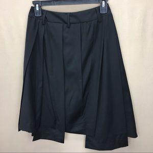 NWT Paul Smith Black Wool Asymmetrical Layer Skirt